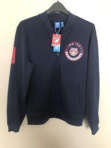 New York Red Bulls Jacket, Men Size Medium, Adidas, Navy Blue