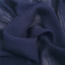 Fabric New Pale Blue Pure Silk Marocain Crepe  Fabric For Per 0.5 1/2 Metre Morocain