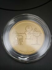 Peanuts® Snoopy and Charlie Brown Valentine 1 oz Gold Round