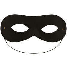 ZORRO EYE MASK SUPER HERO BLACK DOMINO SHAPE MASQUERADE FANCY DRESS ACCESSORY