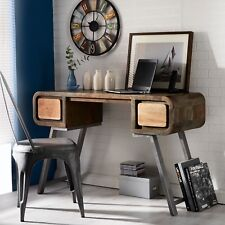 Retro Style Writing Desk/ Console Colarado Range Made From Metal and Wood AS06