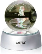AXAYINC 3D Crystal Ball LED Night Light Table Desk Sleep Light for Home...