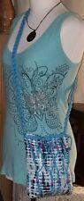 JUSTICE Tie Dye & Sequin Crossbody Braided Strap Bead Design TWEEN Shoulder Bag