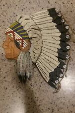 Indian Chief Wooden hand Carving side Face GREAT DETAIL! Motorcycle