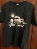 Official Elvis Presley Graceland T-Shirt Medium Black The King of Rock and Roll