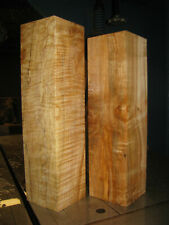 2 FIGURED BIG LEAF MAPLE WOOD TURNING LUMBER 3x3 x 11-1/2 - 12 PEPPERMILL BLANK