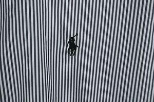 Ralph Lauren Performance Mens sz XL Grey White Striped Long Sleeve Btn Up Shirt