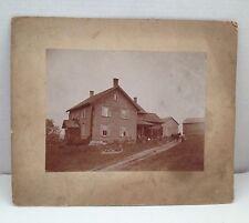 Antique Vintage Photo Davis Farm Horse Farming Family ID'd on back Rural