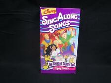VHS Rare Disney's Sing Along Songs Hunchback of Notre Dame Topsy Turvy Video