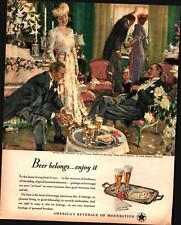 1947 US Beer Brewers #5 in Series After the Wedding John Gannam VTG Print Ad 572