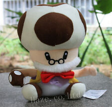 Super Mario Bros Plush Toy Toadsworth Game Stuffed Animal Doll Gift 25cm