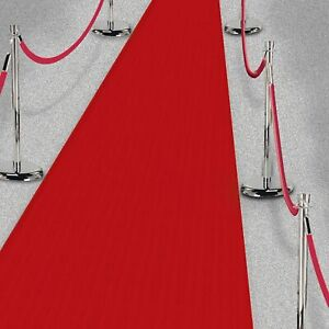 Hollywood Long Red Carpet Runner Party Decorations 40 Feet of Carpet Polyester