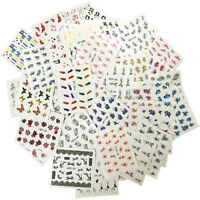 50 Sheets/set Nail Art Water Decals Flower Kiss Love  Transfer Stickers