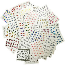 50 Sheets/set Nail Art Water Decals Flower Kiss Love Manicure Transfer Stickers