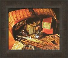 Vintage Creel Pflueger Golden West Reel Martin Collector 12x14 Framed Picture 1