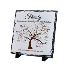Personalised Family Tree Children Love Slate Present Chic Gift Mother's Day Home