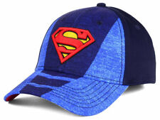 Superman DC Comics Men's L/XL Suited Flex Fit Hat Cap - Blue/Navy