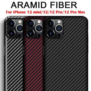 100% Original Genuine Aramid Carbon Fiber Case Slim Cover F iPhone 12 13 Pro Max