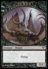MRM ENGLISH Token Demon 5/5 Flying MTG magic AVR