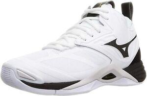 MIZUNO Volleyball Shoes WAVE MOMENTUM 2 MID V1GA2117 White Black US5.5(23.5cm)