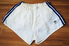 Adidas Glanz Shorts Vintage Nylon White Size M 80s Made In West Germany Mint