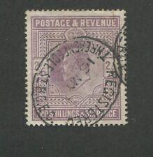 1911 Great Britain United Kingdom King Edward VII 2 Shilling Postage Stamps #139