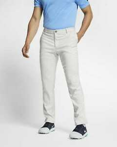 Nike Mens Slim Fit 6 Pocket White Golf Slim/Dri Fit Pants-New-34/32