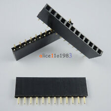 100PCS 2.54mm Pitch 12 Pin Female Single Row Straight Header Strip PH: 8.5mm
