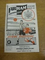 31/03/1961 Fulham v Arsenal  (Crease, Team Changes). Thanks for viewing our item