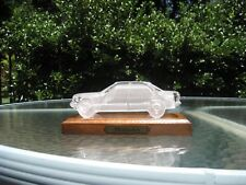 estate crystal glass Mercedes Benz model paperweight collectible car wood stand