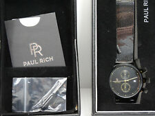 Men's Paul Rich Cosmic Black Mesh Watch New (W7)