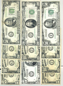 All 11 ($205 FV) $5 - $50 Federal Reserve Notes from Chicago Series 1928/28A/28B