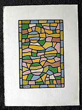 Lithographie du peintre Manessier 1979 GRAVURE  ORIGINALE