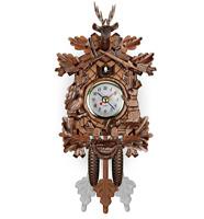 Vintage Cuckoo Clock Forest Swing Wall Room Decor Wood Cartoon Clock
