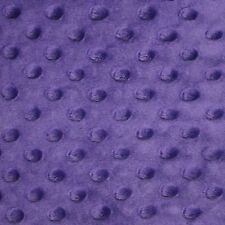 """Purple Minky Dot Cuddle Fabric - Sold By The Yard - 58""""/ 60"""""""