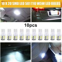 10x T10 LED Lampadine Bianco W5W 20SMD 194 501 Luci  per auto Canbus con zeppa