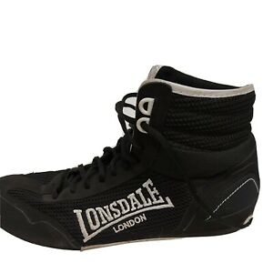 Lonsdale Mens Contender Size 10.5 Boxing Boots Lace Up Sports Shoes Trainers blk