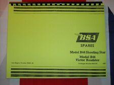 Parts Manual Fits Bsa 1967 B44vr Victor Roadster B44ss Shooting Star Motorcycle