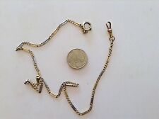 ANTIQUE XX CENTURY 10,01 GR. 18  K. TWO COLORS GOLD POCKET WATCH CHAIN
