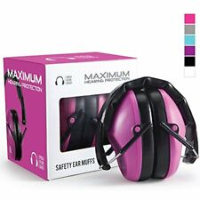 Ear Muff Shooting Range Practice Women Pink Hearing Protection Headset Headband