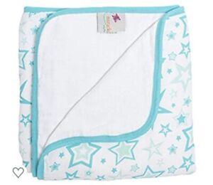 MiracleWare Muslin Serenity Blanket Aqua Stars