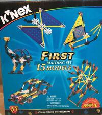 K'Nex First Building Set 31007 - Build 15 Models Train, Plane 253 Pieces
