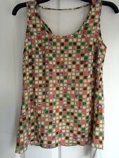 Jovonna Beige check vest top - size 8