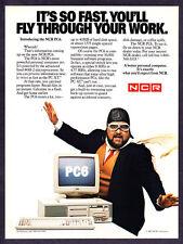 1984 NCR PC6 Home Computer Comedian Dom De Luise photo vintage promo print ad