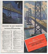 1939 San Francisco Bay Bridge Brochure with Maps and nice Bridge Graphics
