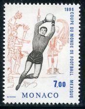 TIMBRE DE MONACO N° 1529 ** SPORT / COUPE DU MONDE FOOTBALL MEXICO / GARDIEN