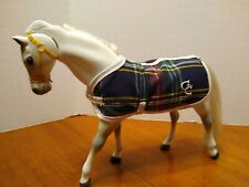 New ListingVtg Empire Grand Champions Gc Model White Horse w/ Blanket Head And Neck Move