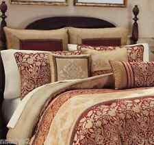 Croscill RENAISSANCE King COMFORTER Shams Bedskirt 4PC Set Red Gold SALE