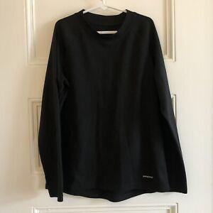 Kids PATAGONIA Capilene Shirt Size Large (12) Black Long Sleeve Boys Girls EUC