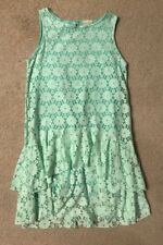 EUC! Zara Girls Mint Green Ruffle Lace Top/Dress Sz 11/12 Great Color And Style!